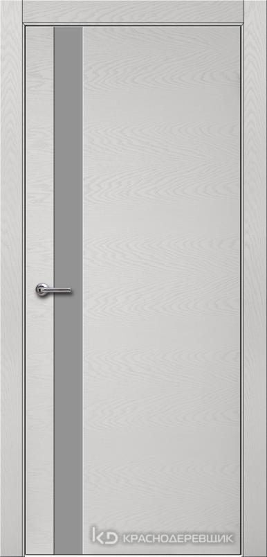 700 ЭмальСветлоСерыйШпонДуба Дверь 701 ДО 21- 9 (пр/л), с фурн., СтеклоСерое