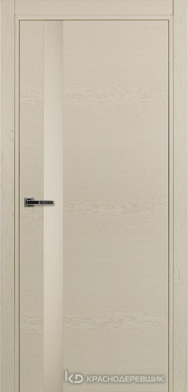700 ЭмальЖемчужныйШпонДуба Дверь 701 ДО 21- 9 (пр/л), с фурн., СтеклоСерое