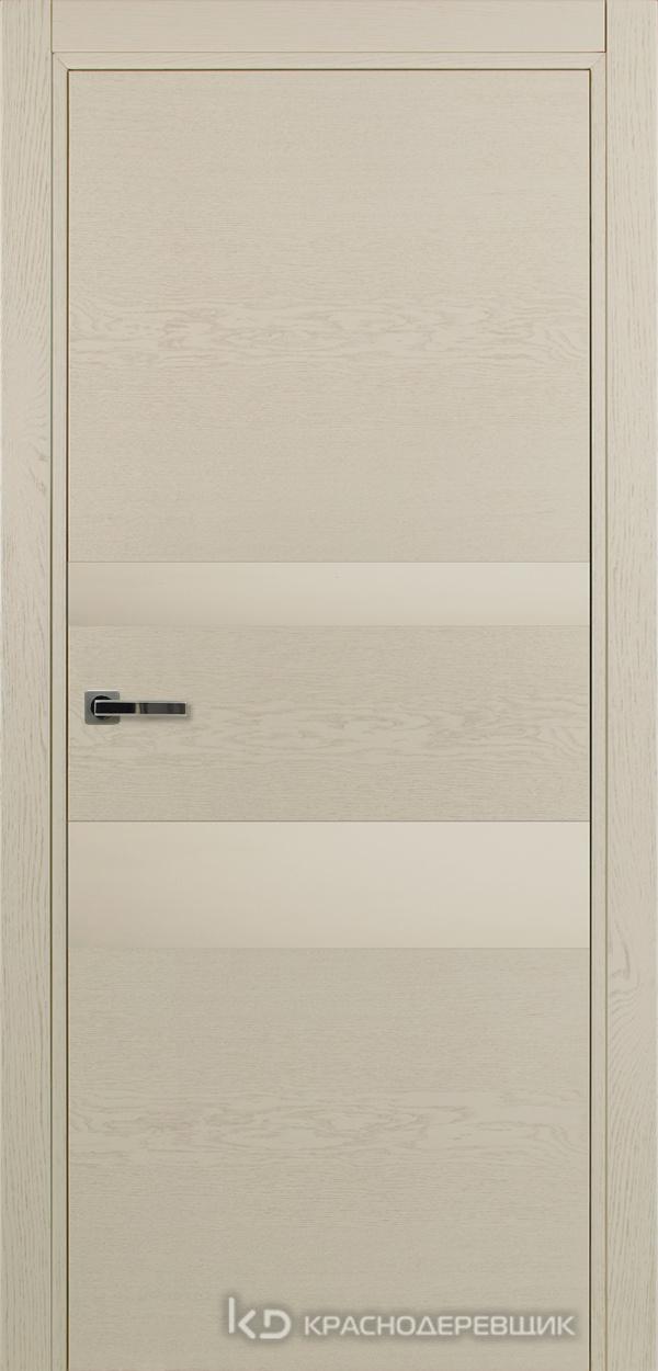 700 ЭмальЖемчужныйШпонДуба Дверь 703 ДО 21- 9 (пр/л), с фурн., СтеклоСерое