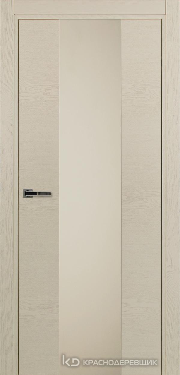 700 ЭмальЖемчужныйШпонДуба Дверь 704 ДО 21- 9 (пр/л), с фурн., СтеклоСерое