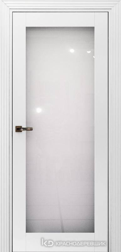 730 MDF ЭмальБелый Дверь 739 ДО 21- 9 (пр/л), с фурн. Стекло Триплекс 8мм