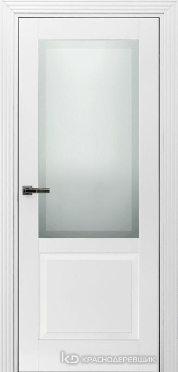 730 MDF ЭмальБелый Дверь 732.1 ДО 21- 9 (пр/л), с фурн. СтеклоМатПсевдофацет