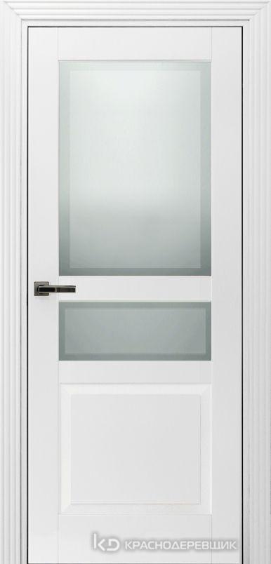 730 MDF ЭмальБелый Дверь 733.1 ДО 21- 9 (пр/л), с фурн. СтеклоМатПсевдофацет