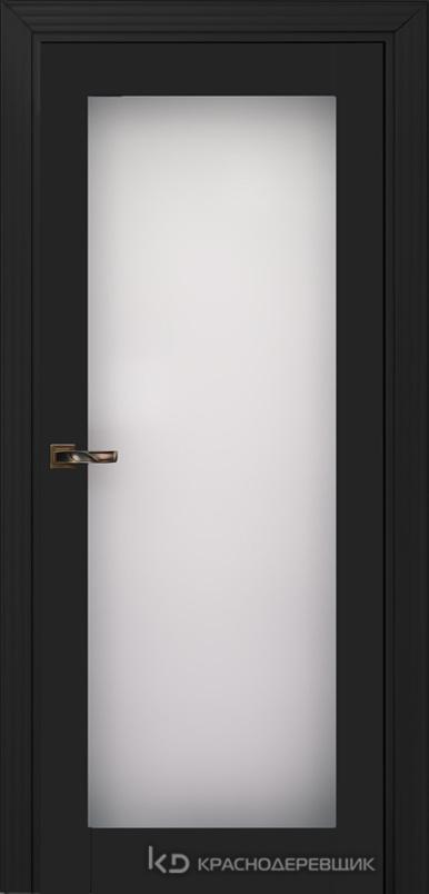 730 MDF ЭмальЧерный Дверь 739 ДО 21- 9 (пр/л), с фурн. Стекло Триплекс 8мм