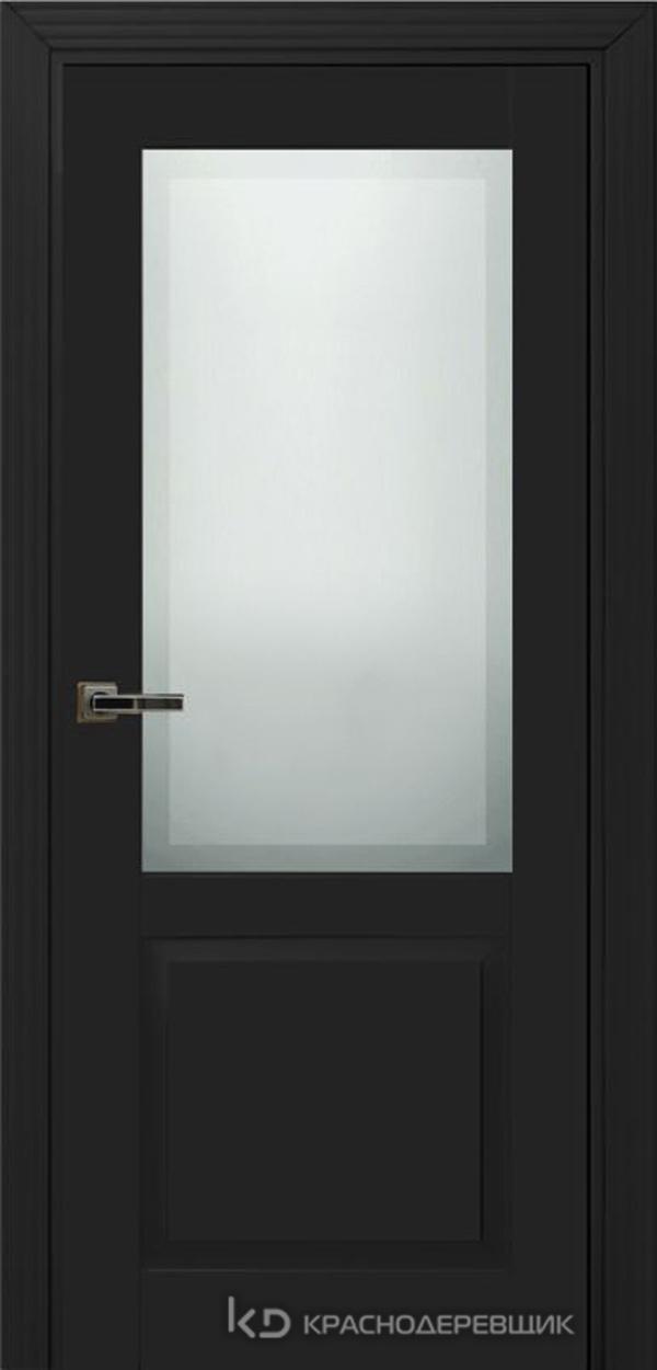 730 MDF ЭмальЧерный Дверь 732.1 ДО 21- 9 (пр/л), с фурн. СтеклоМатПсевдофацет