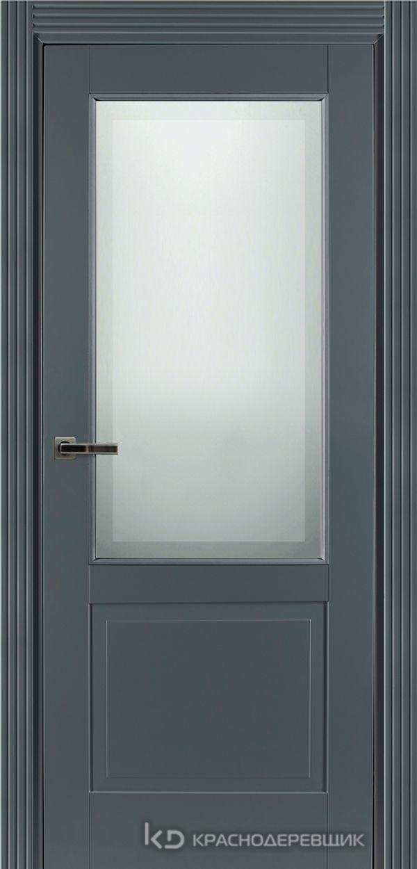 730 MDF ЭмальСерый Дверь 732.1 ДО 21- 9 (пр/л), с фурн. СтеклоМатПсевдофацет