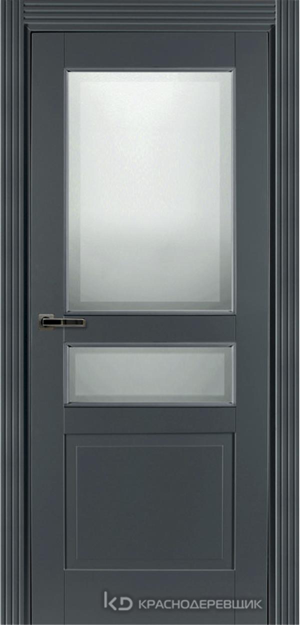 730 MDF ЭмальСерый Дверь 733.1 ДО 21- 9 (пр/л), с фурн. СтеклоМатПсевдофацет