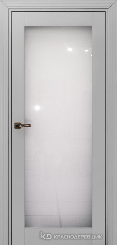 730 MDF ЭмальСветлоСерый Дверь 739 ДО 21- 9 (пр/л), с фурн. Стекло Триплекс 8мм