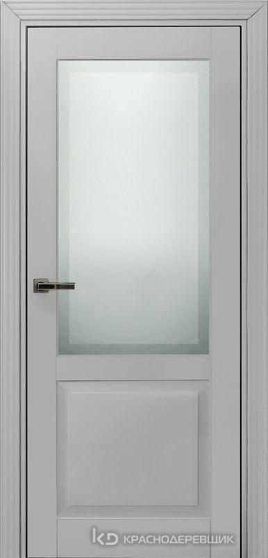 730 MDF ЭмальСветлоСерый Дверь 732.1 ДО 21- 9 (пр/л), с фурн. СтеклоМатПсевдофацет