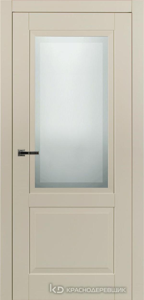 730 MDF ЭмальЖемчужный Дверь 732.1 ДО 21- 9 (пр/л), с фурн. СтеклоМатПсевдофацет