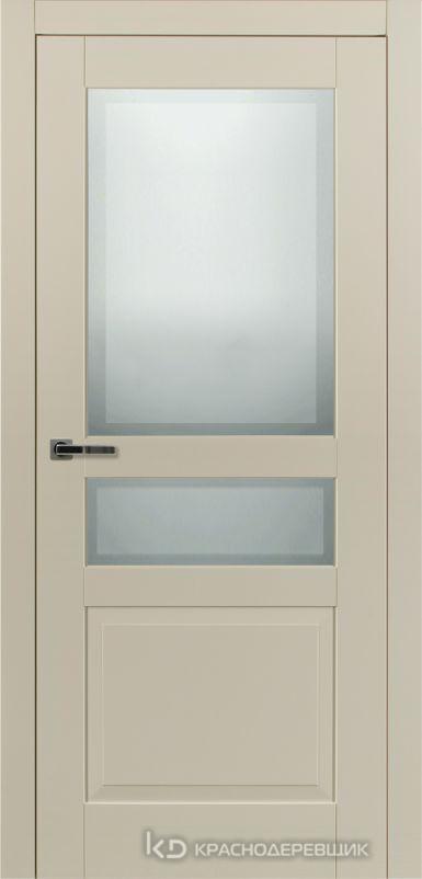 730 MDF ЭмальЖемчужный Дверь 733.1 ДО 21- 9 (пр/л), с фурн. СтеклоМатПсевдофацет