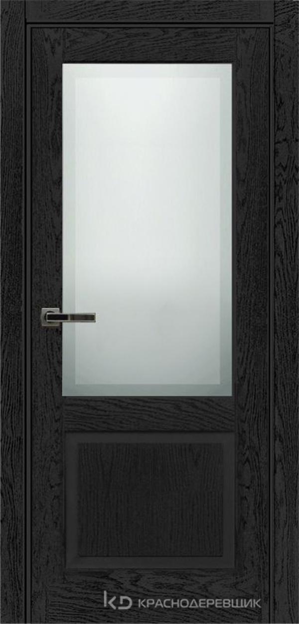 740 ШпонЭмальЧерный Дверь 742.1 ДО 21- 9 (пр/л), с фурн. СтеклоМатПсевдофацет