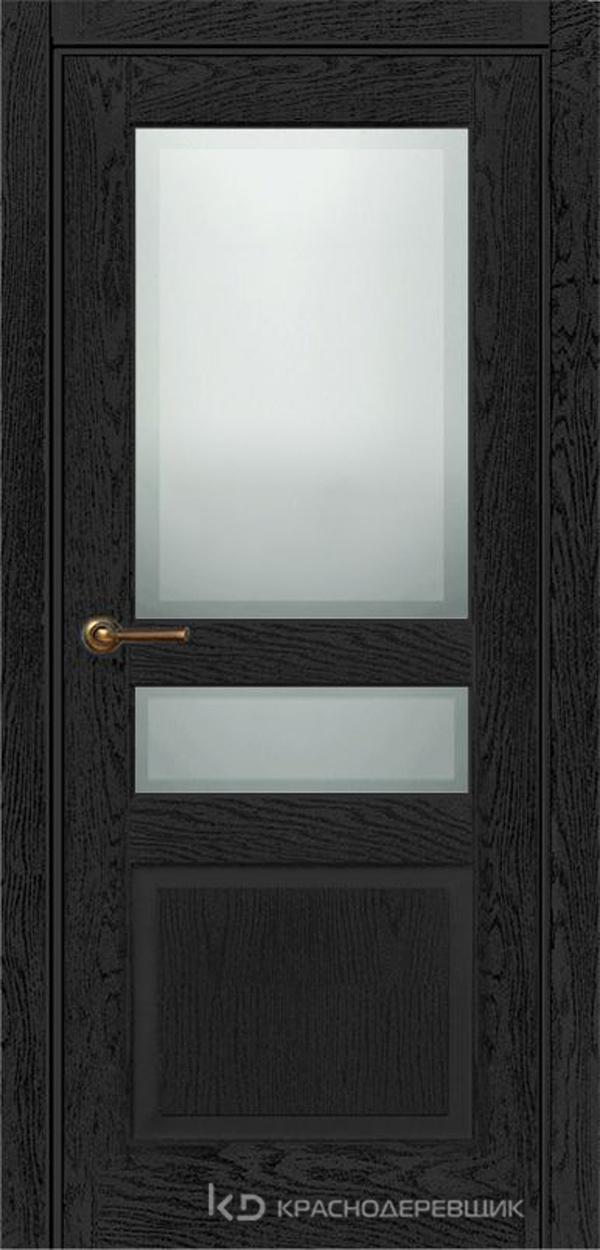 740 ШпонЭмальЧерный Дверь 743.1 ДО 21- 9 (пр/л), с фурн. СтеклоМатПсевдофацет