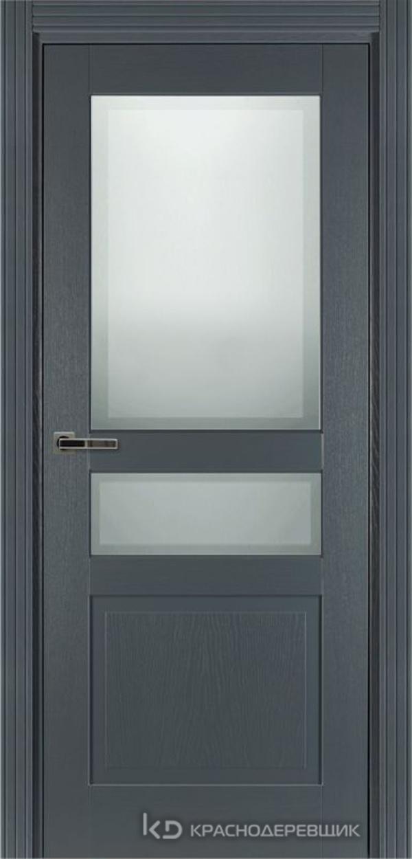 740 ШпонЭмальСерый Дверь 743.1 ДО 21- 9 (пр/л), с фурн. СтеклоМатПсевдофацет