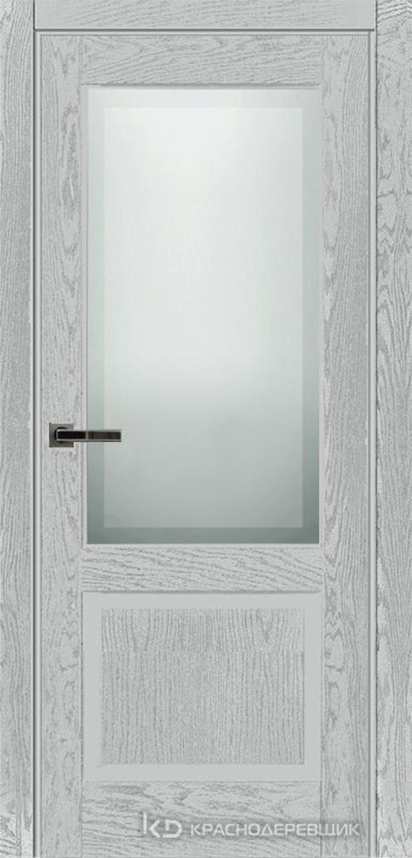 740 ШпонЭмальСветлоСерый Дверь 742.1 ДО 21- 9 (пр/л), с фурн. СтеклоМатПсевдофацет