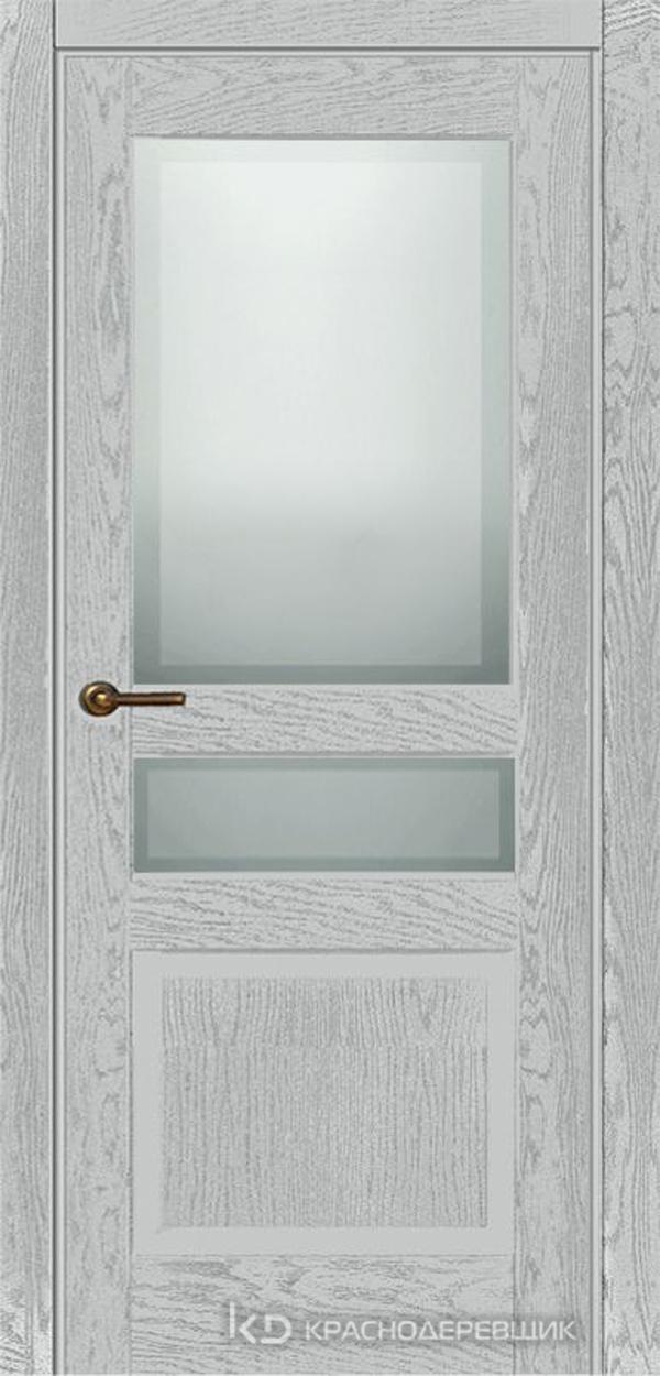 740 ШпонЭмальСветлоСерый Дверь 743.1 ДО 21- 9 (пр/л), с фурн. СтеклоМатПсевдофацет