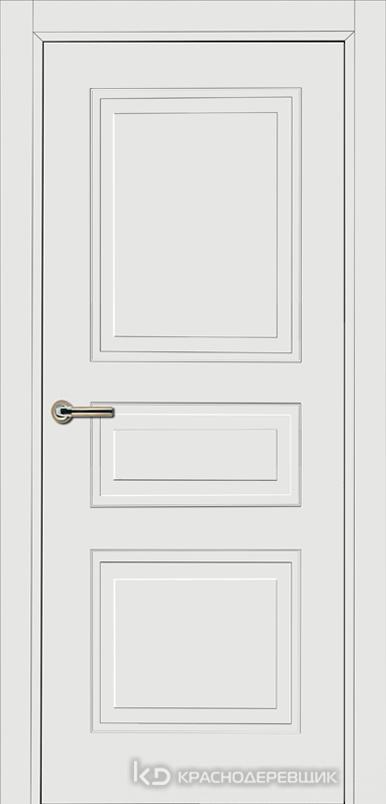 750 MDF ЭмальБелый Дверь 753 ДГ 21- 9 (пр/л), с фурн.