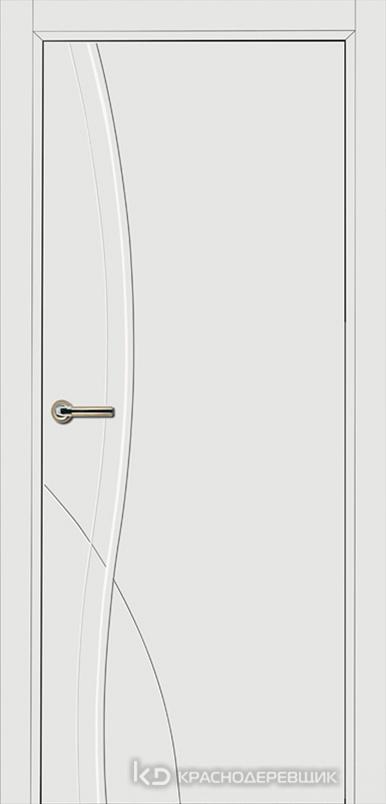 750 MDF ЭмальБелый Дверь 756 ДГ 21- 9 (пр/л), с фурн.