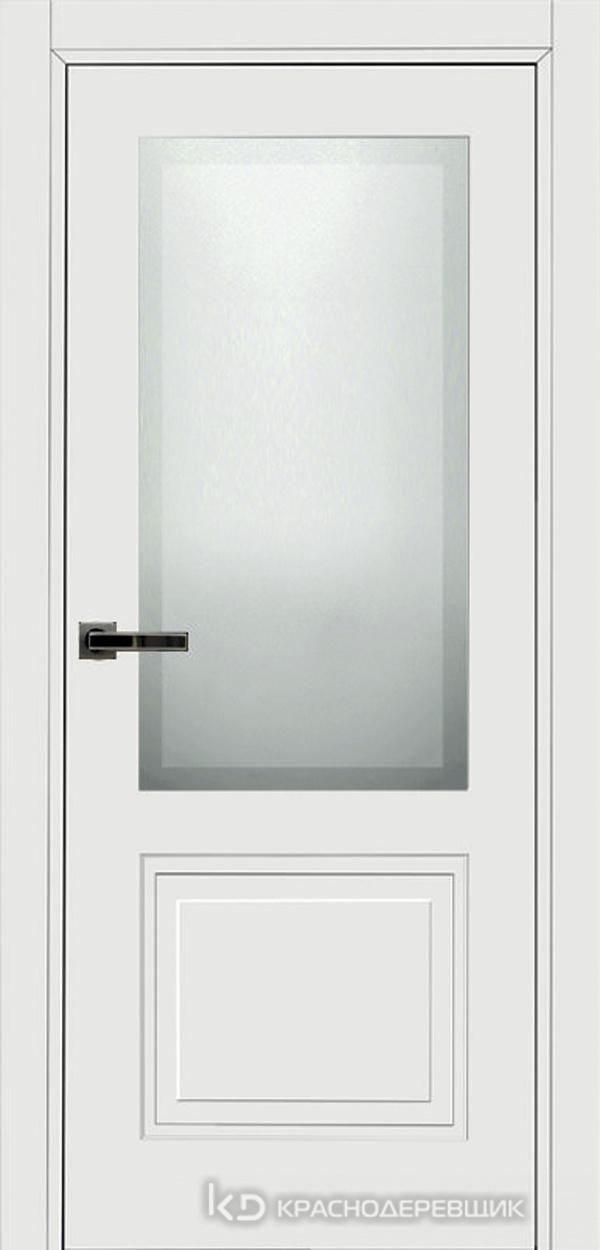 750 MDF ЭмальБелый Дверь 752.1 ДО 21- 9 (пр/л), с фурн. СтеклоМатПсевдофацет