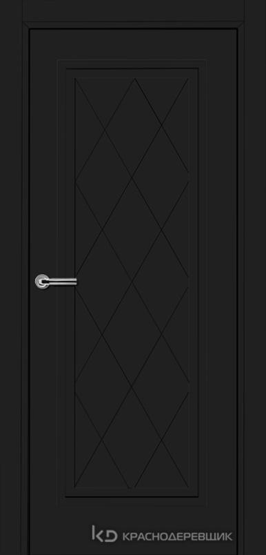 750 MDF ЭмальЧерный Дверь 755 ДГ 21- 9 (пр/л), с фурн.