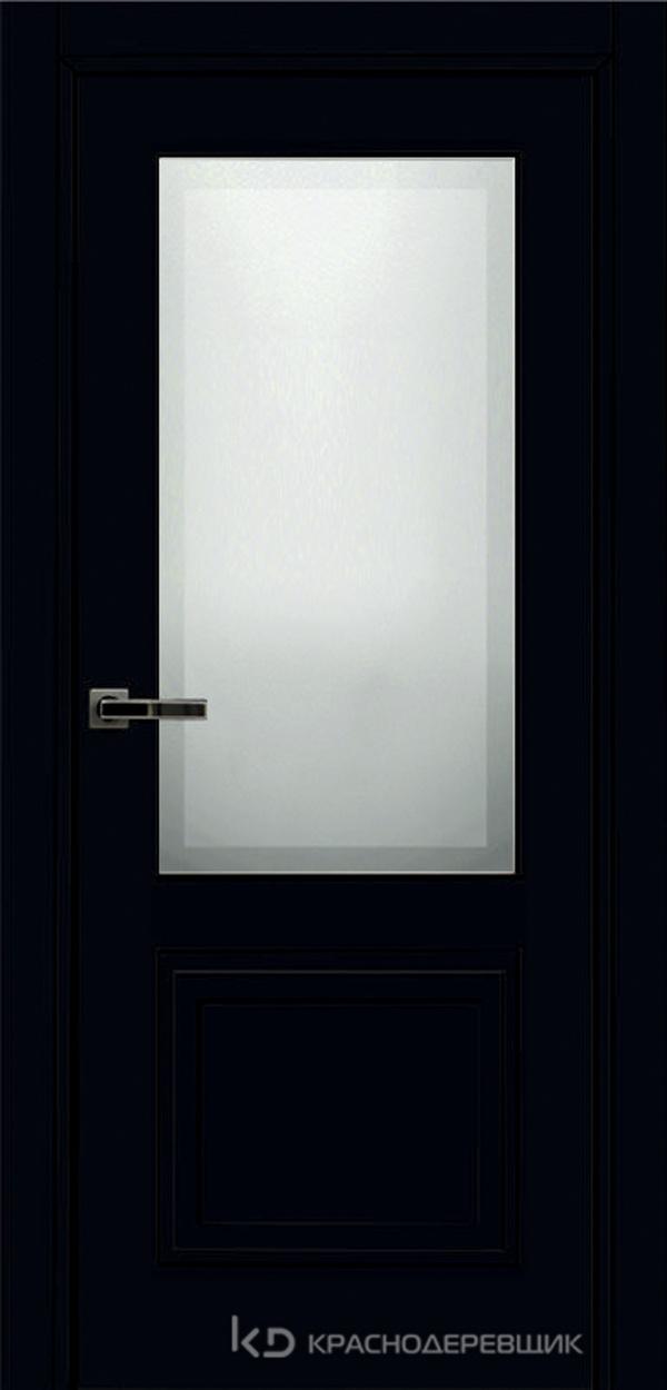 750 MDF ЭмальЧерный Дверь 752.1 ДО 21- 9 (пр/л), с фурн. СтеклоМатПсевдофацет