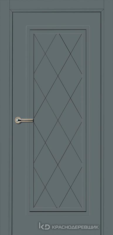 750 MDF ЭмальСерый Дверь 755 ДГ 21- 9 (пр/л), с фурн.