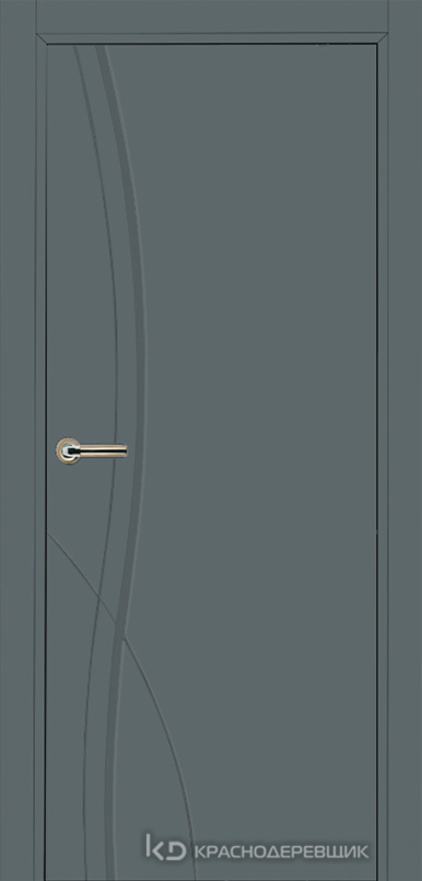 750 MDF ЭмальСерый Дверь 756 ДГ 21- 9 (пр/л), с фурн.