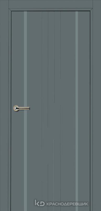 750 MDF ЭмальСерый Дверь 757 ДГ 21- 9 (пр/л), с фурн.