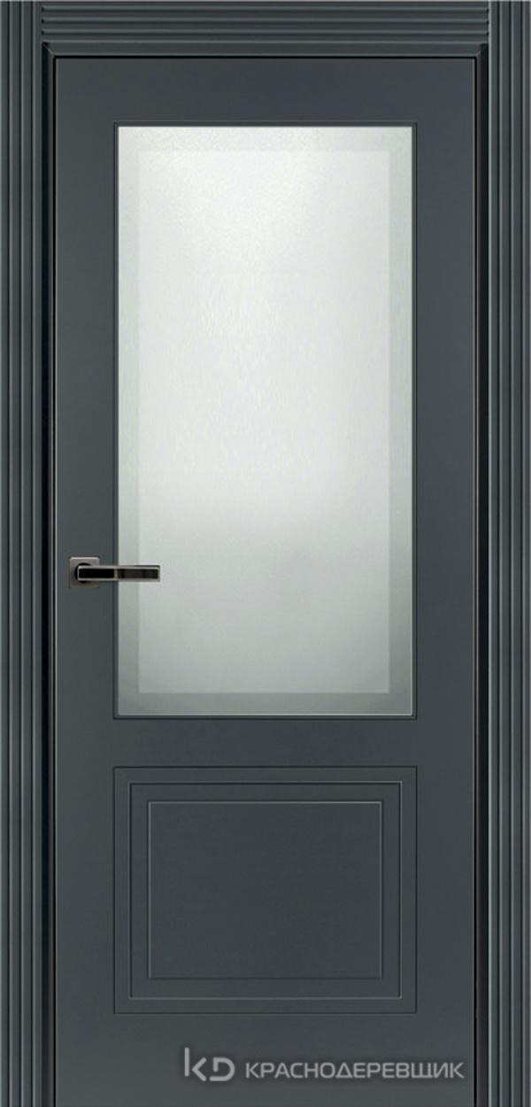 750 MDF ЭмальСерый Дверь 752.1 ДО 21- 9 (пр/л), с фурн. СтеклоМатПсевдофацет