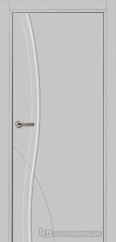 750 MDF ЭмальСветлоСерый Дверь 756 ДГ 21- 9 (пр/л), с фурн.