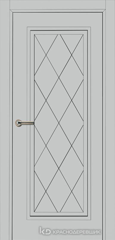 750 MDF ЭмальСветлоСерый Дверь 755 ДГ 21- 9 (пр/л), с фурн.