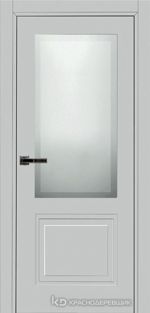 750 MDF ЭмальСветлоСерый Дверь 752.1 ДО 21- 9 (пр/л), с фурн. СтеклоМатПсевдофацет