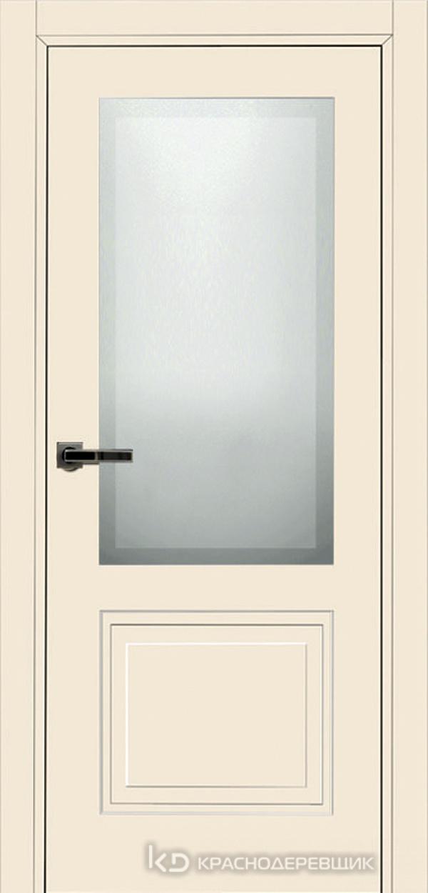 750 MDF ЭмальЖемчужный Дверь 752.1 ДО 21- 9 (пр/л), с фурн. СтеклоМатПсевдофацет