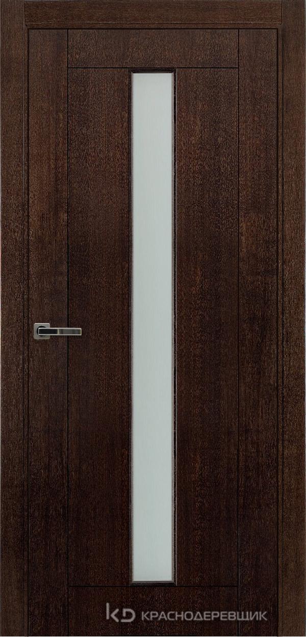 Дверь ДО мод 8002, 2000*800, МореныйШпонДуба, Без фурнитуры, МатТрипл