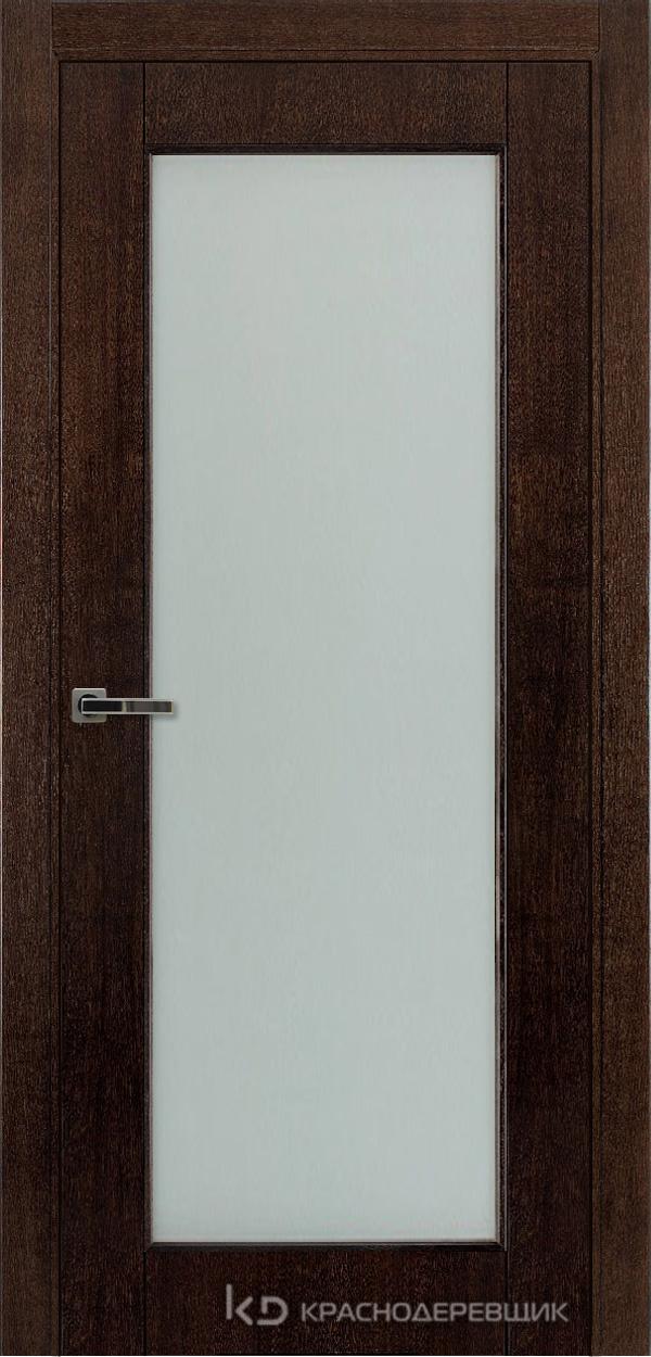 Дверь ДО мод 8004, 2000*800, МореныйШпонДуба, Без фурнитуры, МатТрипл