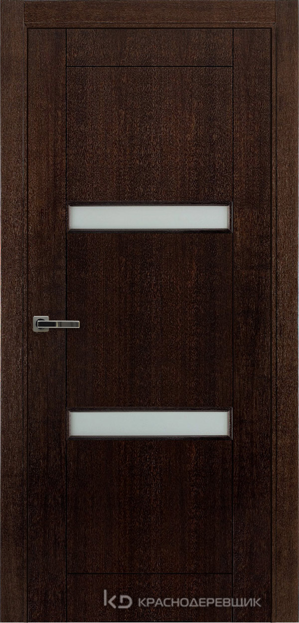 Дверь ДО мод 8006, 2000*800, МореныйШпонДуба, Без фурнитуры, МатТрипл