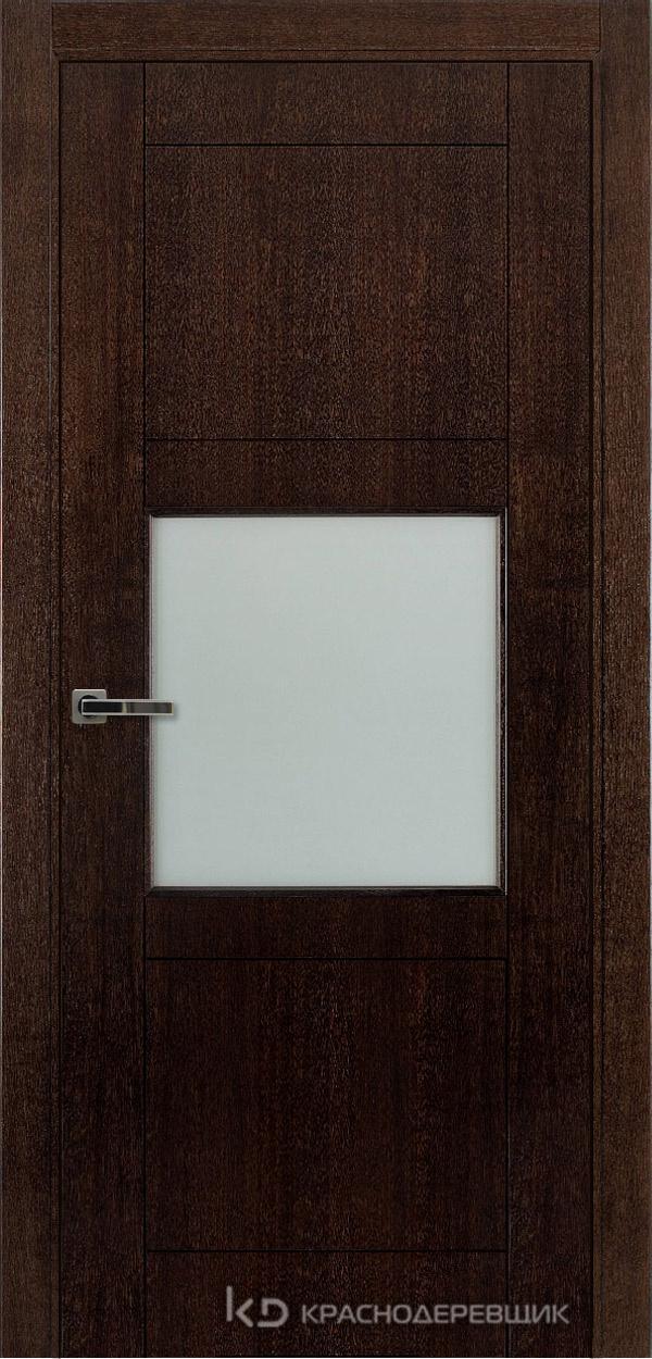 Дверь ДО мод 8008, 2000*800, МореныйШпонДуба, Без фурнитуры, МатТрипл