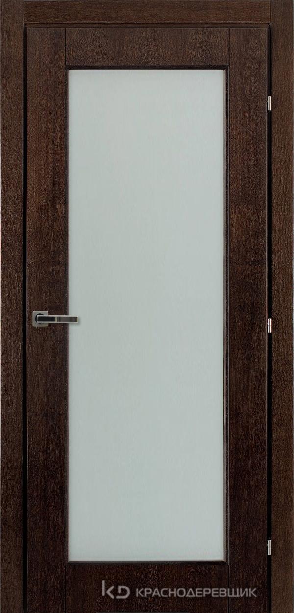 Дверь ДО мод 8304, 2000*800, МореныйШпонДуба, пр/левРаспашн, Зам-Bon, 3 ввертн петли, МатТрипл