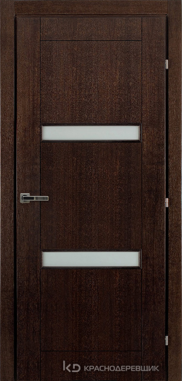 Дверь ДО мод 8306, 2000*800, МореныйШпонДуба, пр/левРаспашн, Зам-Bon, 3 ввертн петли, МатТрипл