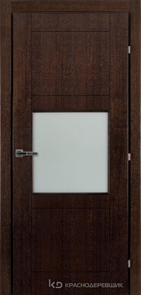 Дверь ДО мод 8308, 2000*800, МореныйШпонДуба, пр/левРаспашн, Зам-Bon, 3 ввертн петли, МатТрипл