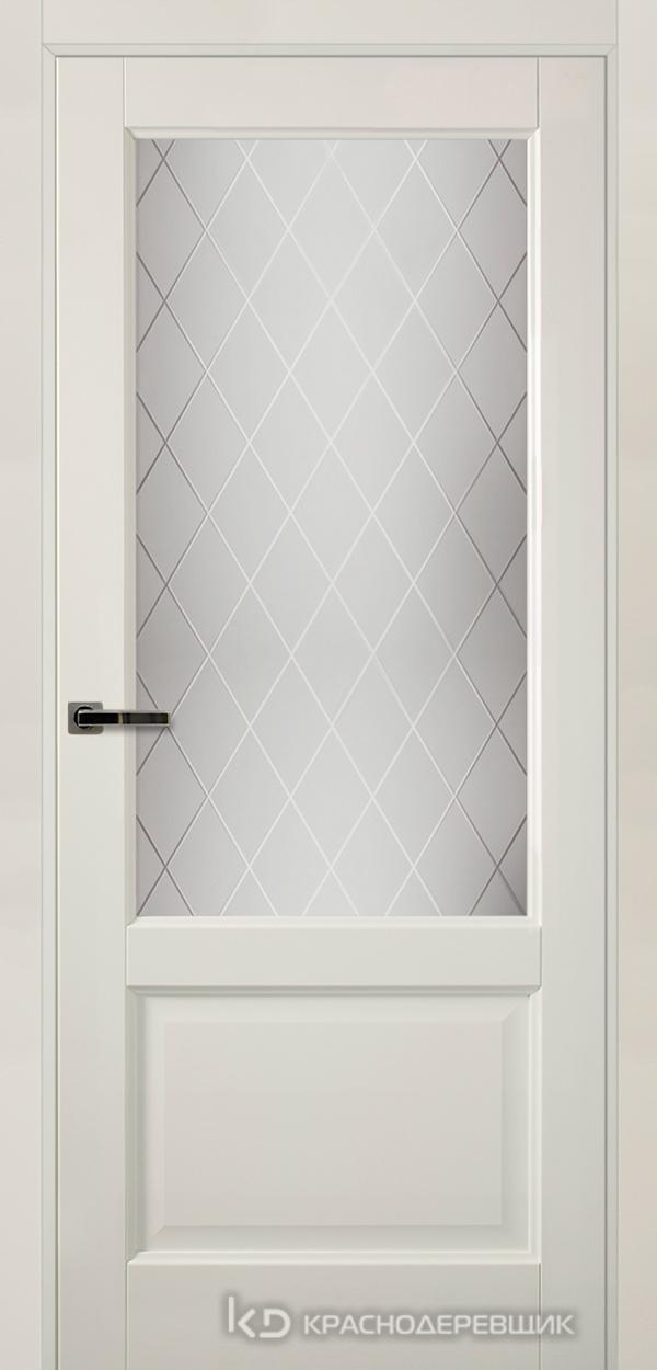 Экселент БелыйПП Дверь Э24 ДО, 21- 9, Кристалл, с магн.замком AGB B041035034 п/цил, хром; Без фрезеровки под петли, Прямой притвор