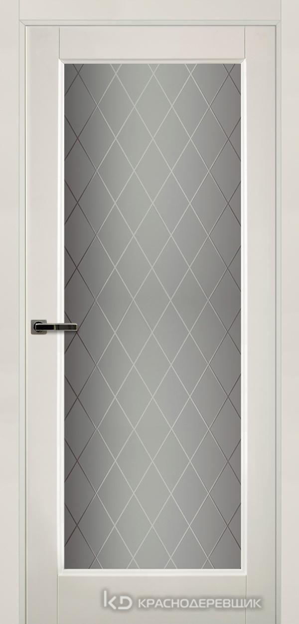 Экселент БелыйПП Дверь Э40 ДО, 21- 9, Кристалл, с магн.замком AGB B041035034 п/цил, хром и 2 скр.петли IN301090, Прямой притвор
