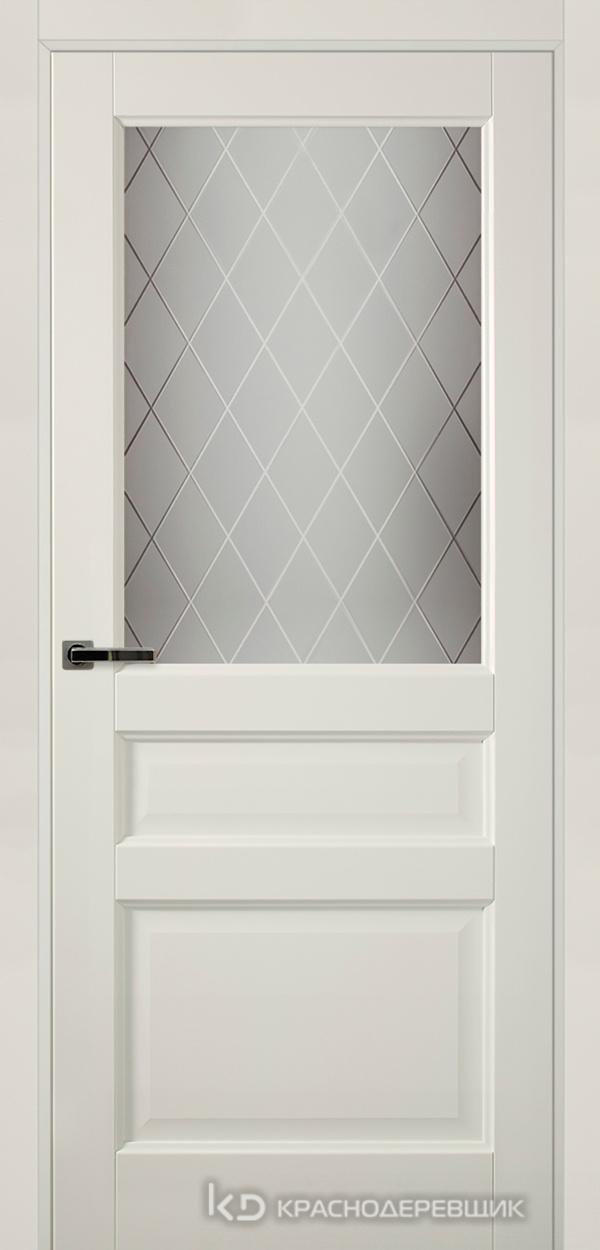 Экселент БелыйПП Дверь Э34 ДО, 21- 9, Кристалл, с мех.замком RENZ INLB96PLINDC п/фикс, хром; Без фрезеровки под петли, Прямой притвор