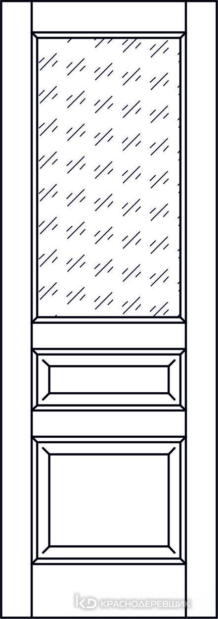 Экселент ДубГрафитPVC Дверь Э34 ДО, 21- 9, Кристалл, Без фурн/фрез, Прямой притвор