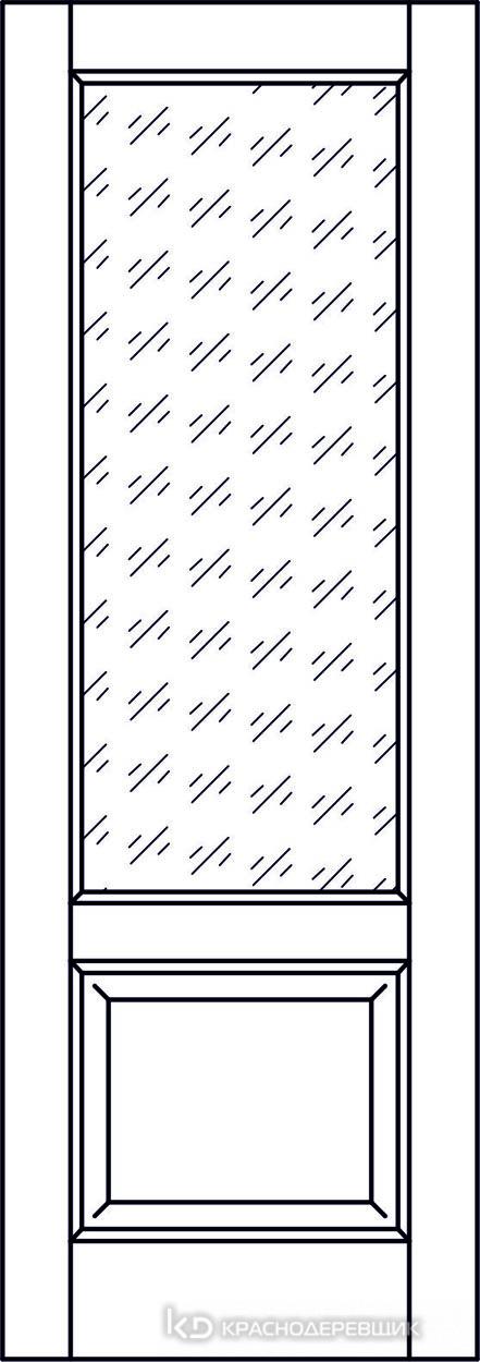 Экселент ДубГрафитPVC Дверь Э24 ДО, 21- 9, Кристалл, с магн.замком AGB B041035034 п/цил, хром и 2 скр.петли IN301090, Прямой притвор