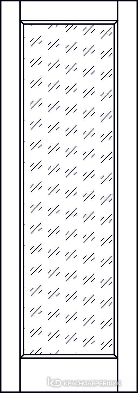 Экселент ДубГрафитPVC Дверь Э40 ДО, 21- 9, Кристалл, с магн.замком AGB B041035034 п/цил, хром и 2 скр.петли IN301090, Прямой притвор