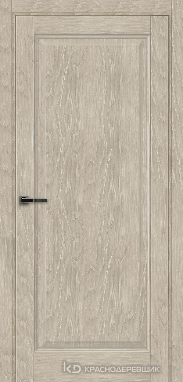 Экселент ДубСедойPVC Дверь Э39 ДГ, 21- 9, с магн.замком AGB B041035034 п/цил, хром; Без фрезеровки под петли, Прямой притвор