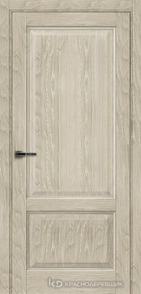 Экселент ДубСедойPVC Дверь Э23 ДГ, 21- 9, с мех.замком RENZ INLB96PLINDC п/фикс, хром; Без фрезеровки под петли, Прямой притвор