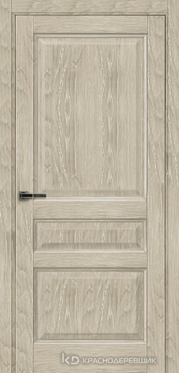 Экселент ДубСедойPVC Дверь Э33 ДГ, 21- 9, с мех.замком RENZ INLB96PLINDC п/фикс, хром; Без фрезеровки под петли, Прямой притвор