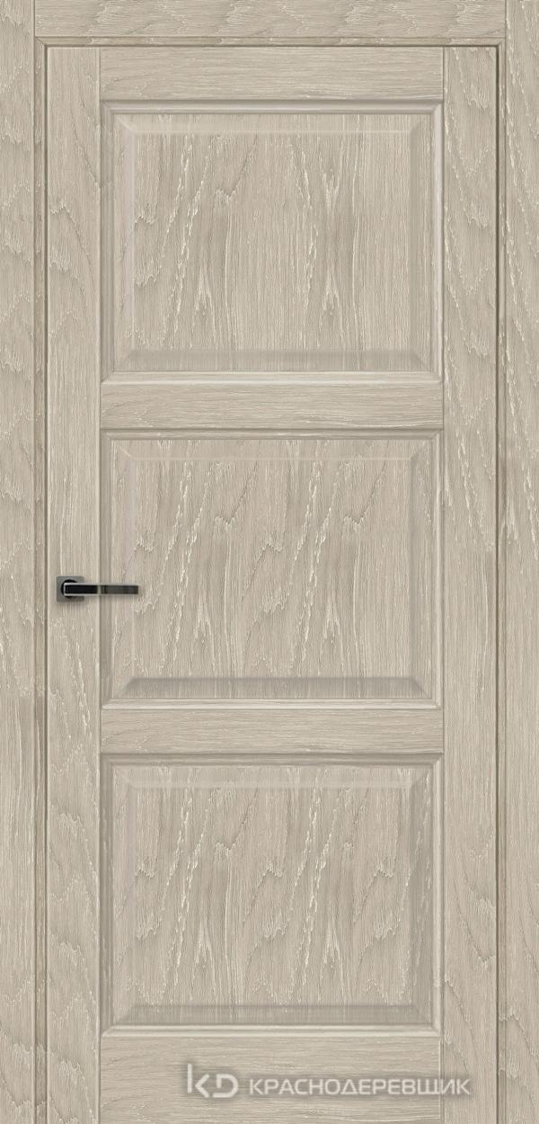 Экселент ДубСедойPVC Дверь Э53 ДГ, 21- 9, с мех.замком RENZ INLB96PLINDC п/фикс, хром; Без фрезеровки под петли, Прямой притвор